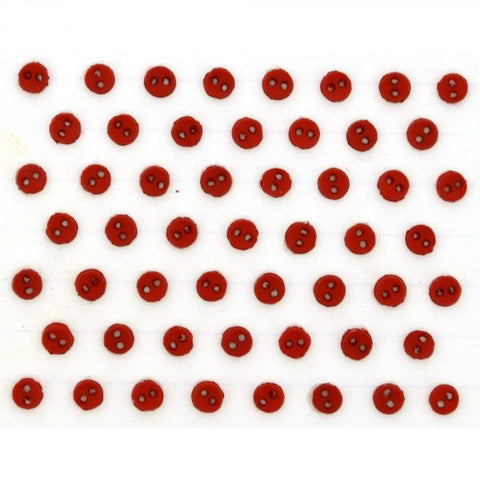 Button #9421 - Micro Round Red