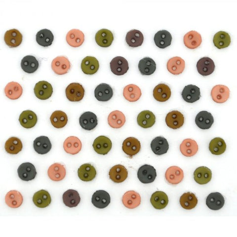 Button #9530 - Micro Mini Round - Earthtones