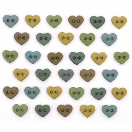 Button #9536 - Hearts Earthtones