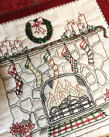 Pattern #051 - Christmas by the Fire