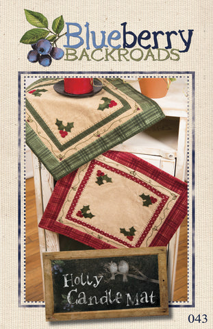 Pattern #043 - Holly Candle Mat