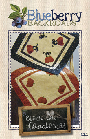 Pattern #044 - Black Cat Candle Mat