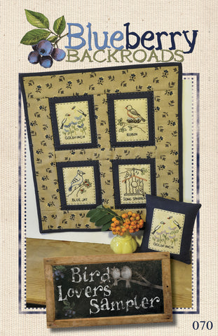 Pattern #070 - Bird Lovers Sampler