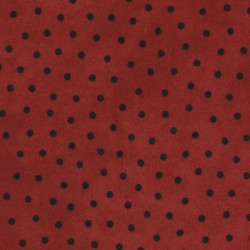 Fabric #8506 R - Woolies Flannel - Deep Red Polka Dots
