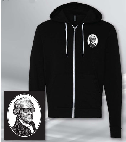 The Hamilton Live Zip-Up Hoodie, White Logo