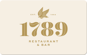 Open image in slideshow, 1789 Restaurant Gift Card