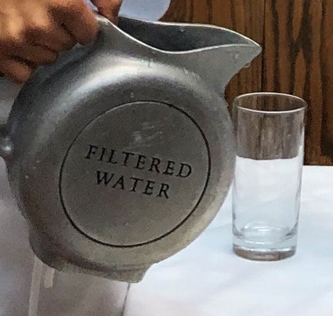 Clyde's Metal Water Pitcher, Gently Used