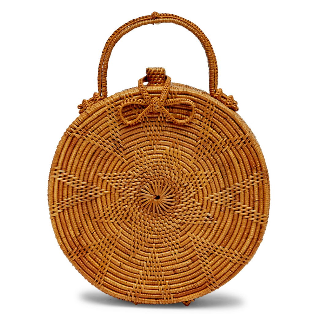 Rosa Weave Vacay Round Clutch