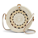 Flores Vacay Crossbody Bag in White