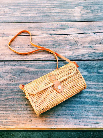 Caroline Everyday Straw Crossbody Bag