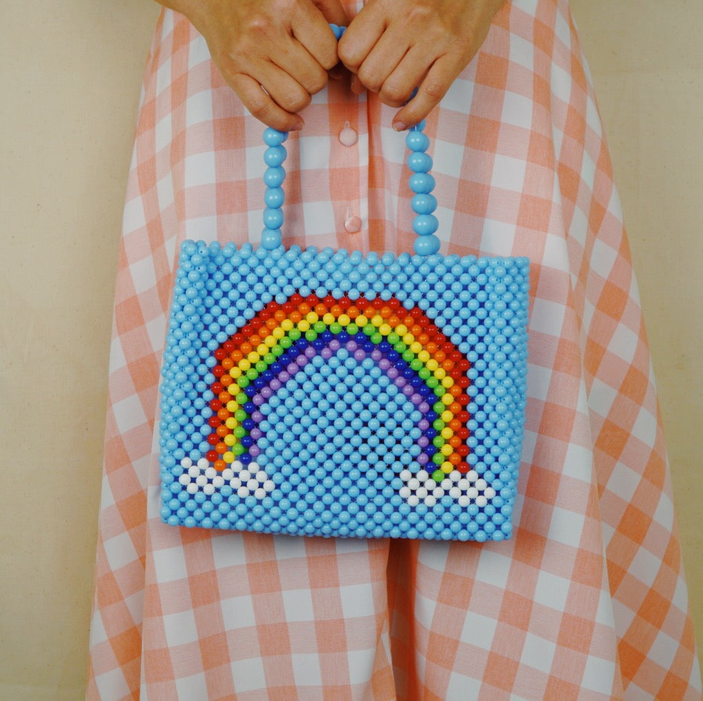 Shine Like Rainbow Beaded Tote