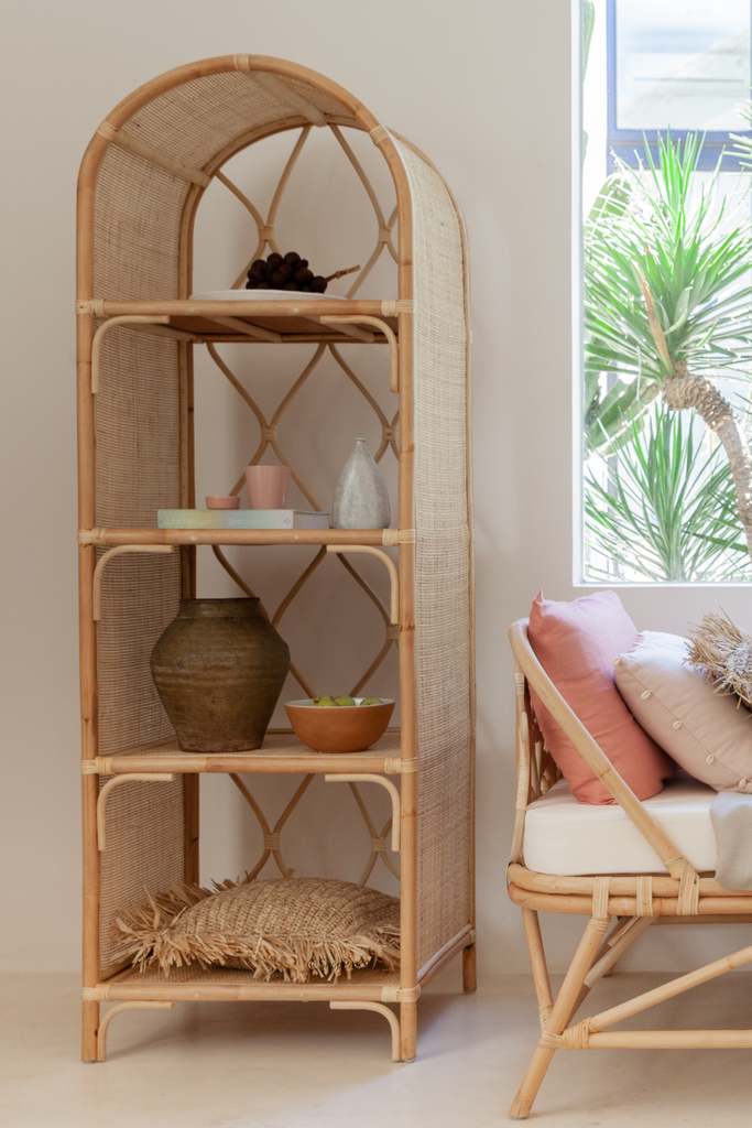 The Gardena Arch Rattan Bookshelf Late July/Aug Arrival