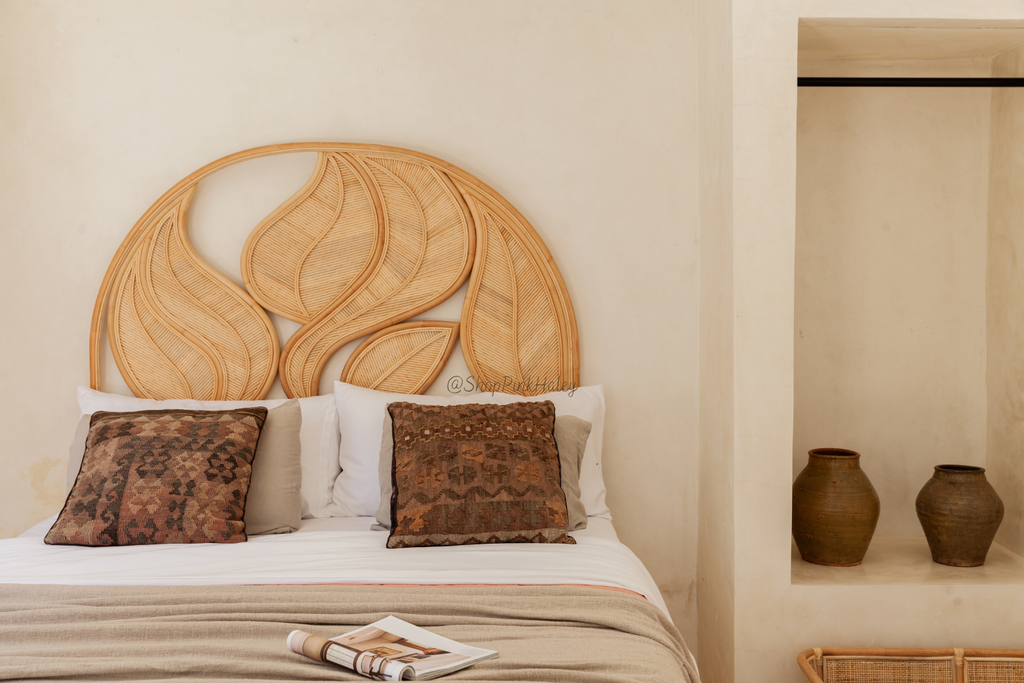The Altadena Palm Leaf Headboard - Queen size Arriving Soon