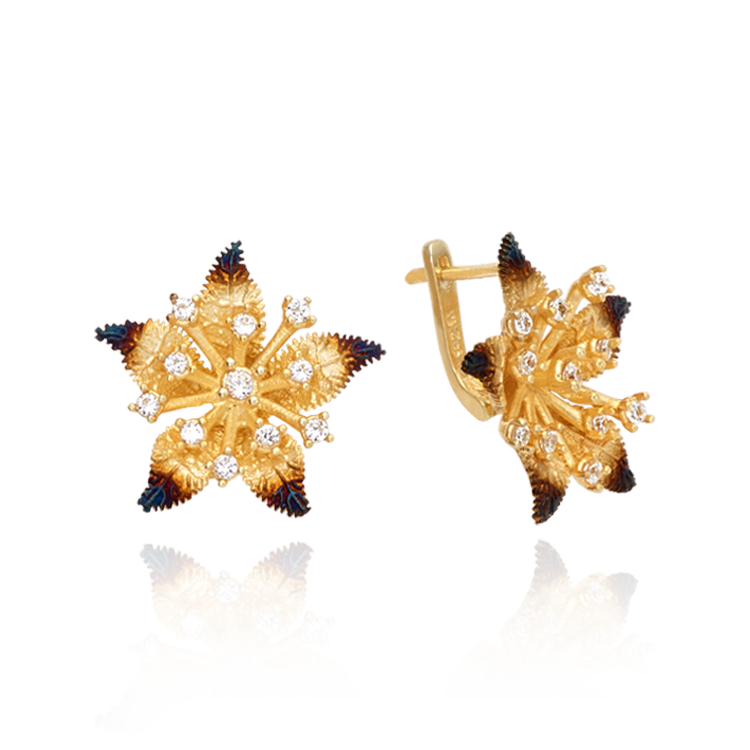 Ember Star Flower Earrings