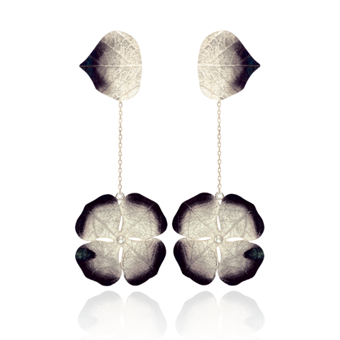 Lily Pad with Ember Detail Earrings