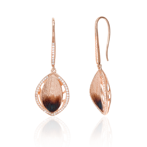 Ember Drop Leaf Earrings