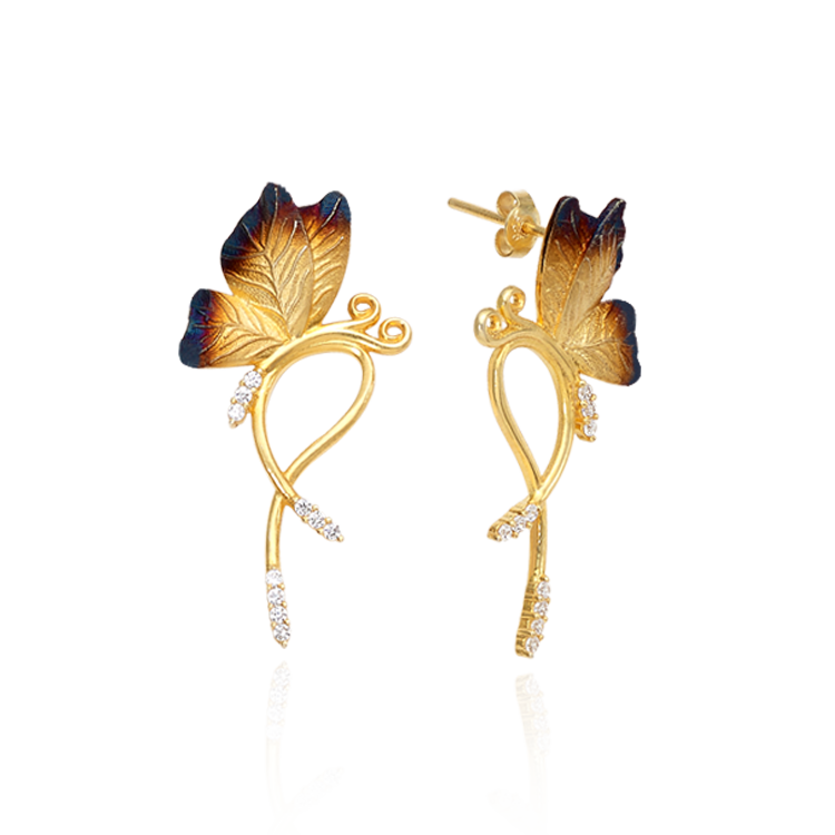 Ember Butterfly on Vine Ember Earrings