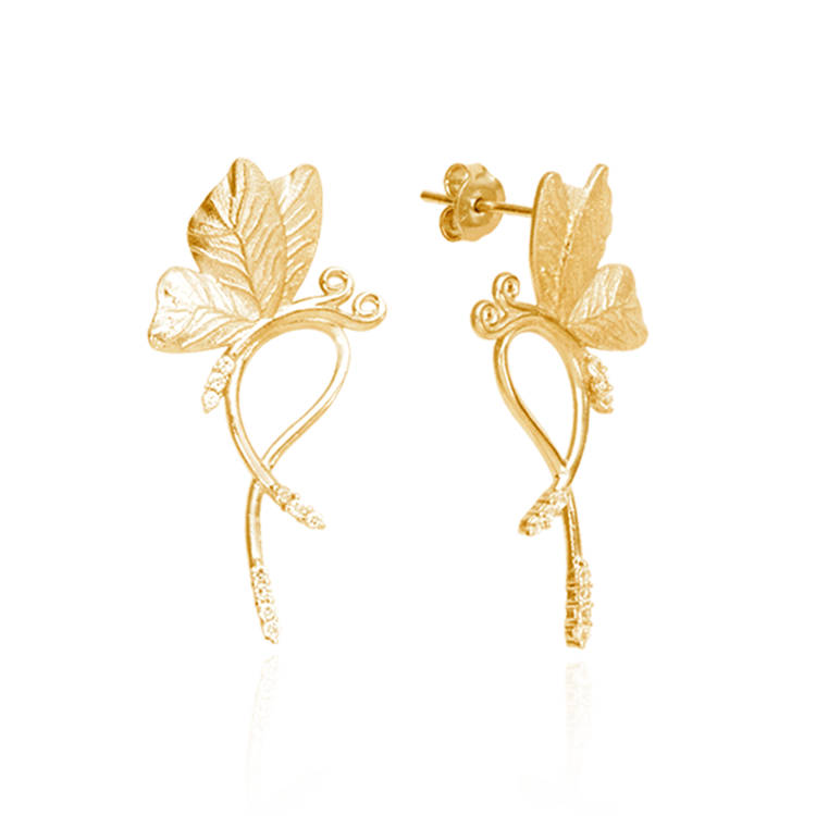 Butterfly on Vine Earrings