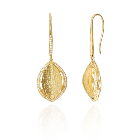 Hanging Leaf Earrings