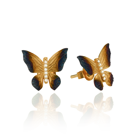 Butterfly Earrings with Ember Detail