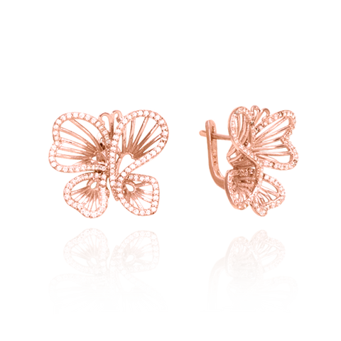 Wire Butterfly Earrings