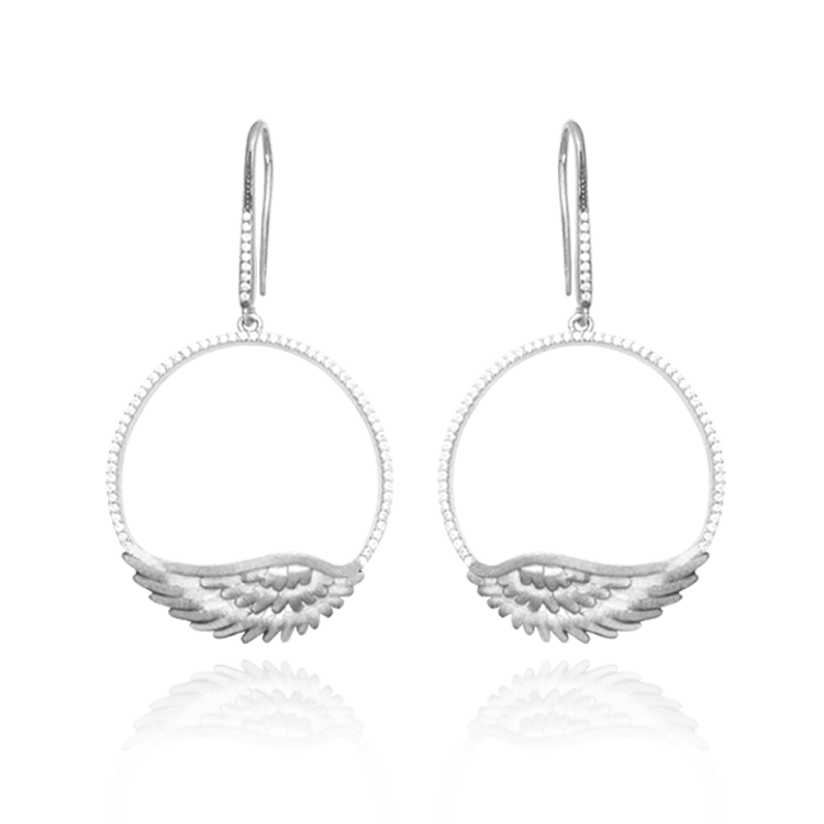 Feathered Halo Earrings