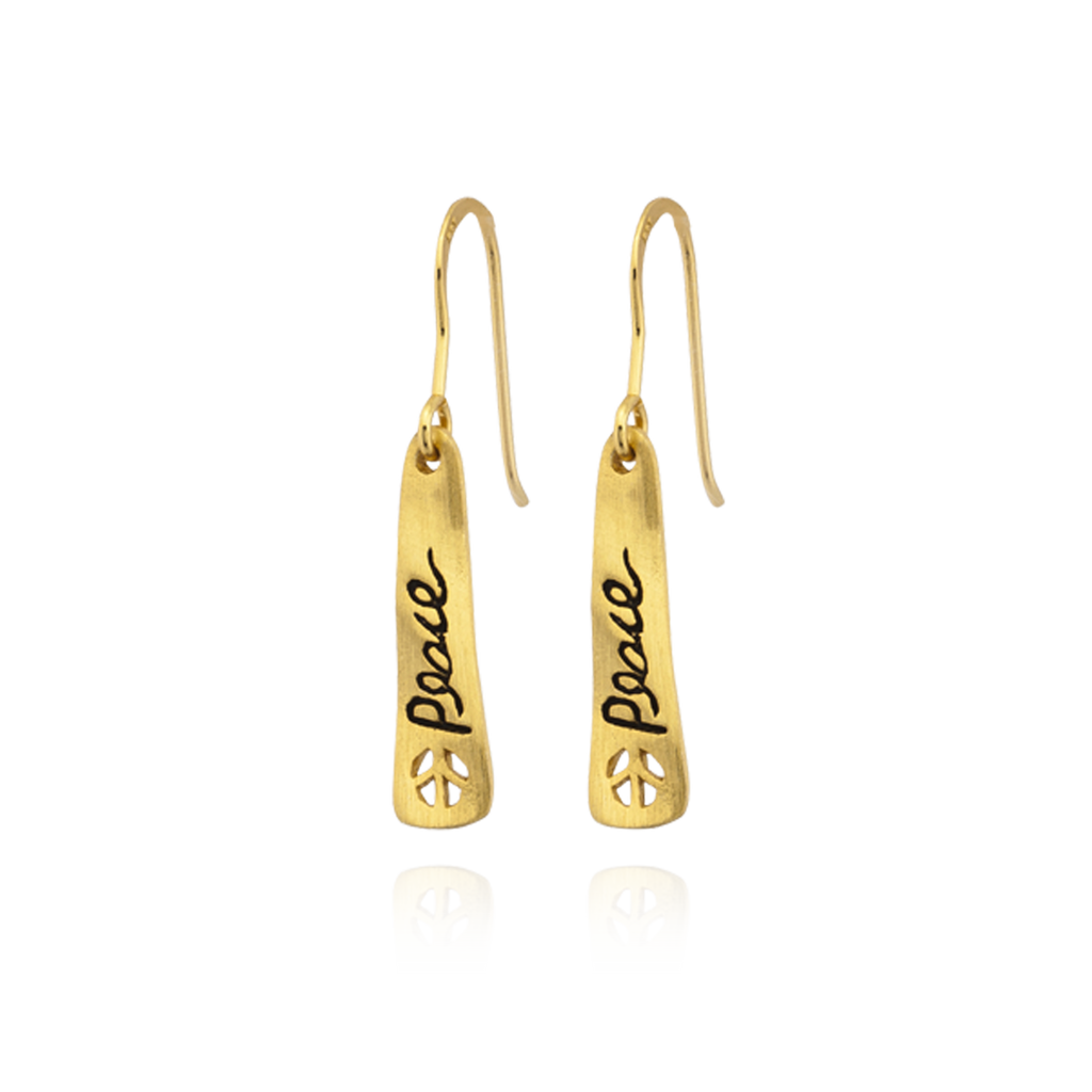 """Peace"" Banner Earrings"