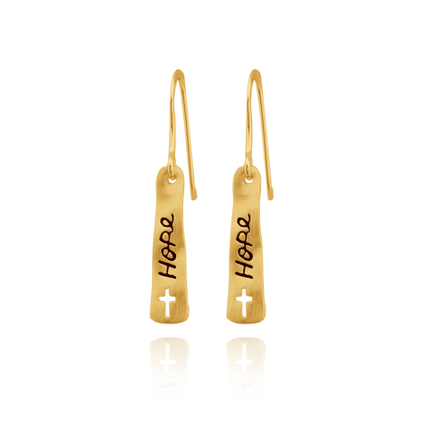 """Hope"" Banner Earrings"