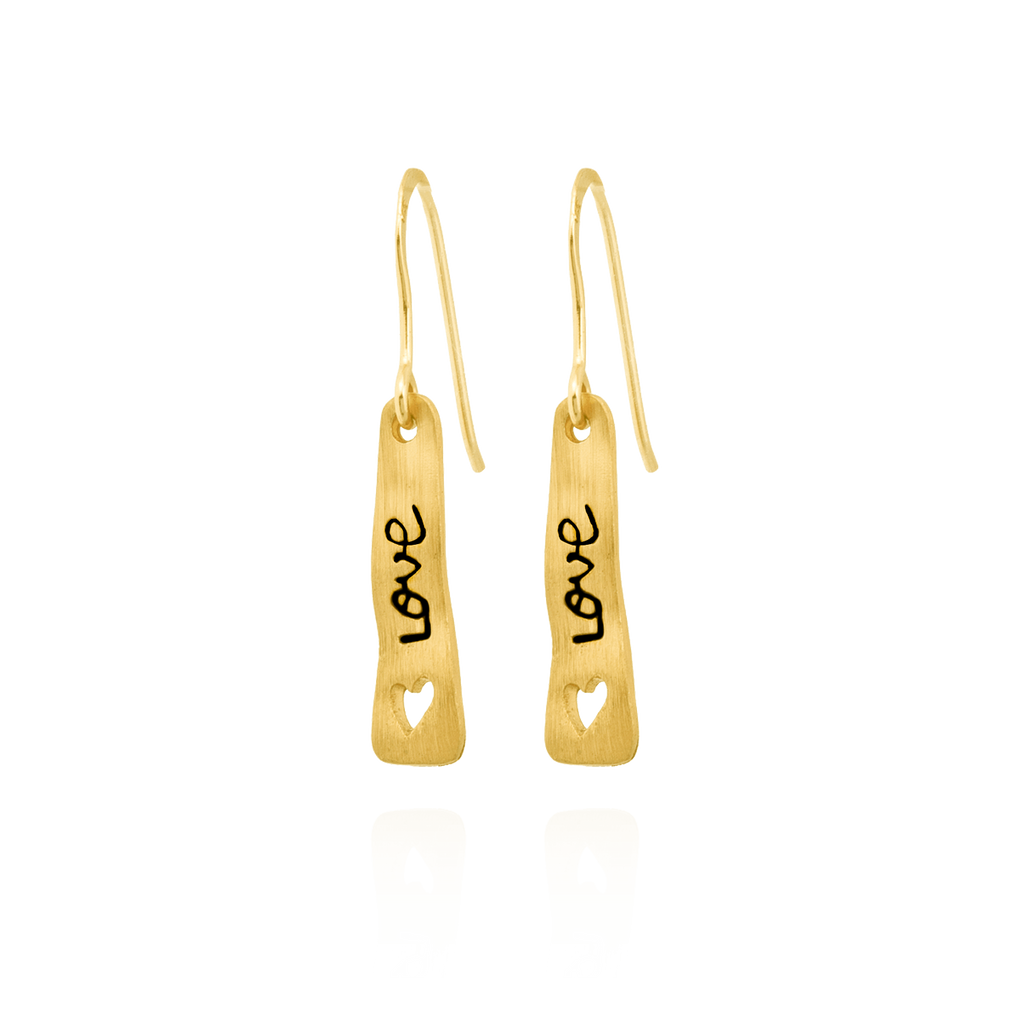 """Love"" Banner Earrings"