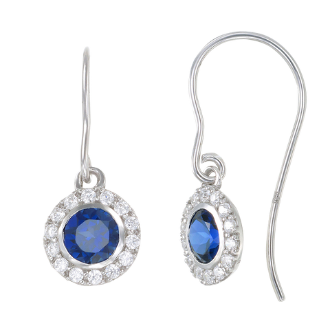Classic Blue Sapphire Earrings