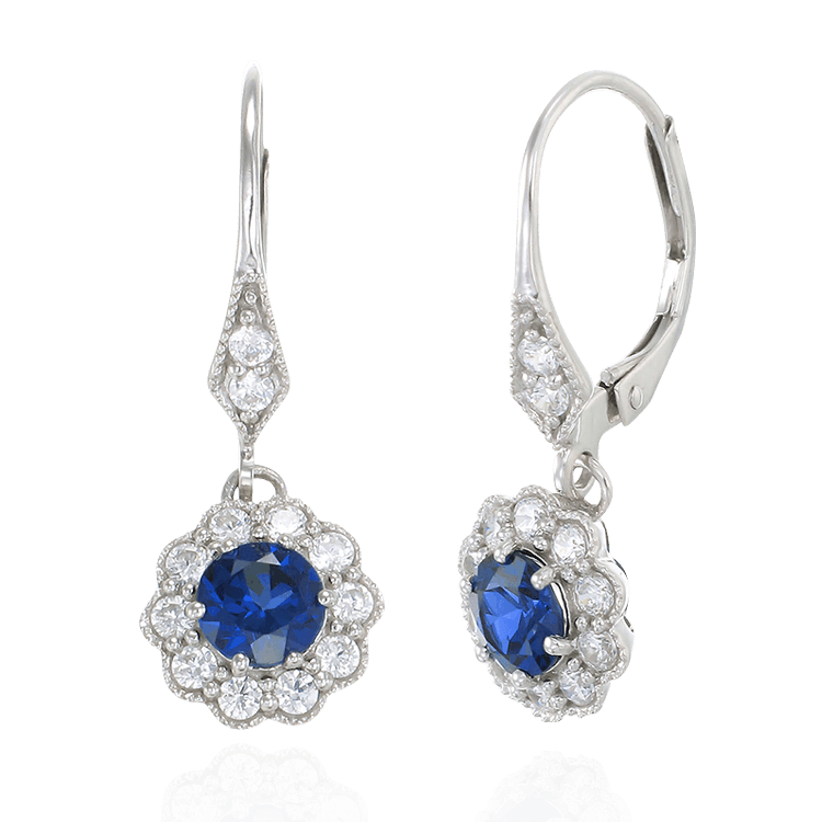 Vintage Inspired Sapphire Earrings