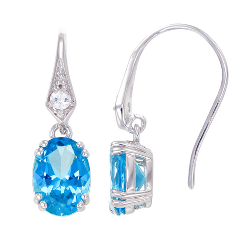 Classically Elegant Passion Topaz Drop Earrings