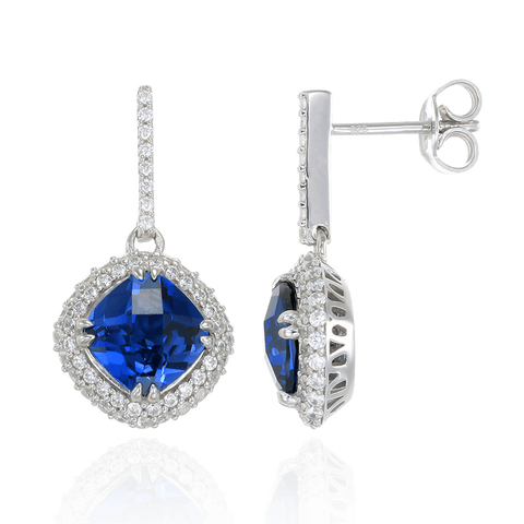 Sumptuous Blue Sapphire Earrings