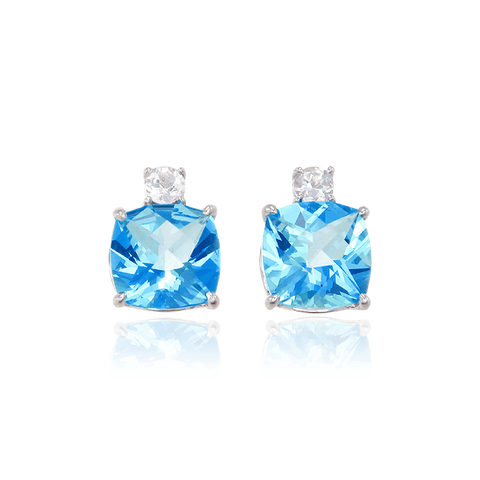 Passion Topaz Sparkling Luscious Earrings with Natural White Topaz