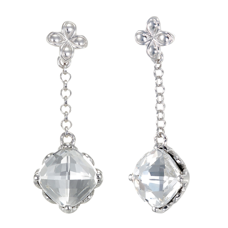 Brilliant White Crystal Earrings