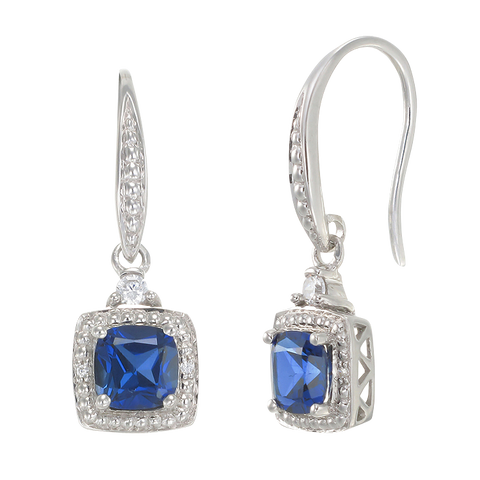 Exquisite Sapphire Drop Earrings