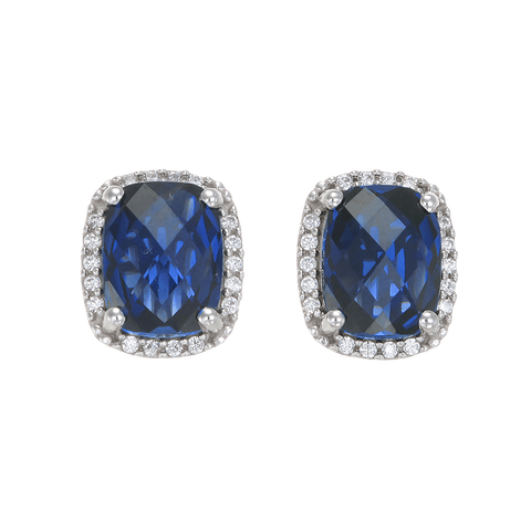 Luscious Blue Sapphire Earrings