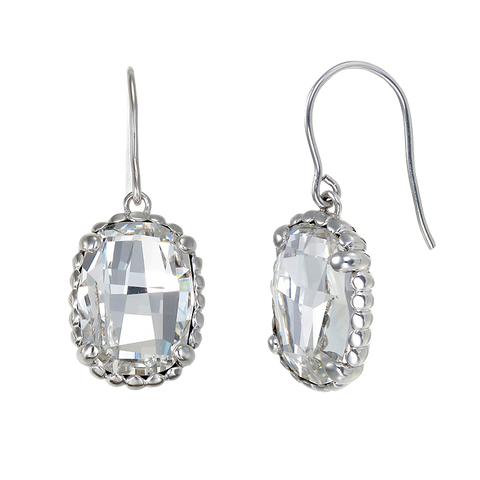 Luminous White Crystal Earrings