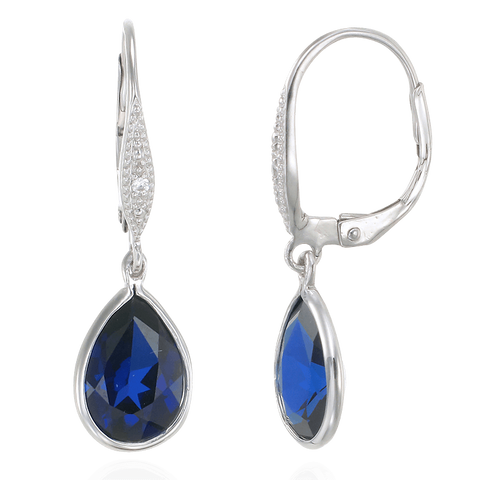 Hanging Teardrop Sapphire Earrings
