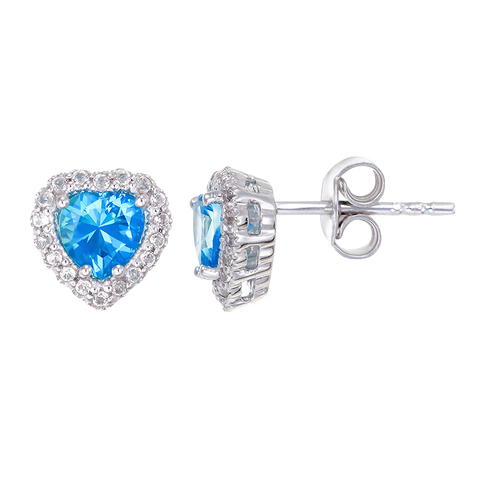 Luscious Passion Topaz Heart Earrings