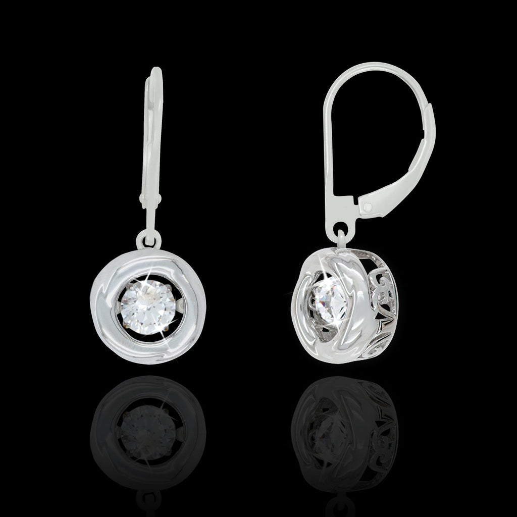 Shimmering High Polished Halo Earrings