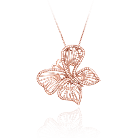 Wire Butterfly Pendant