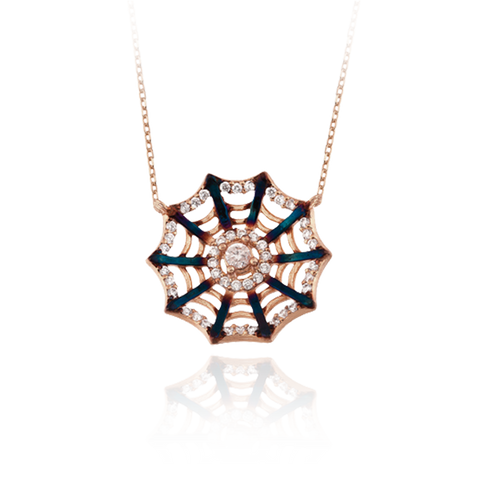Small Spider Web Ember Pendant