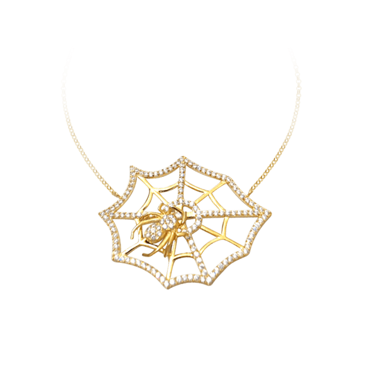 Large Spider Web Necklace