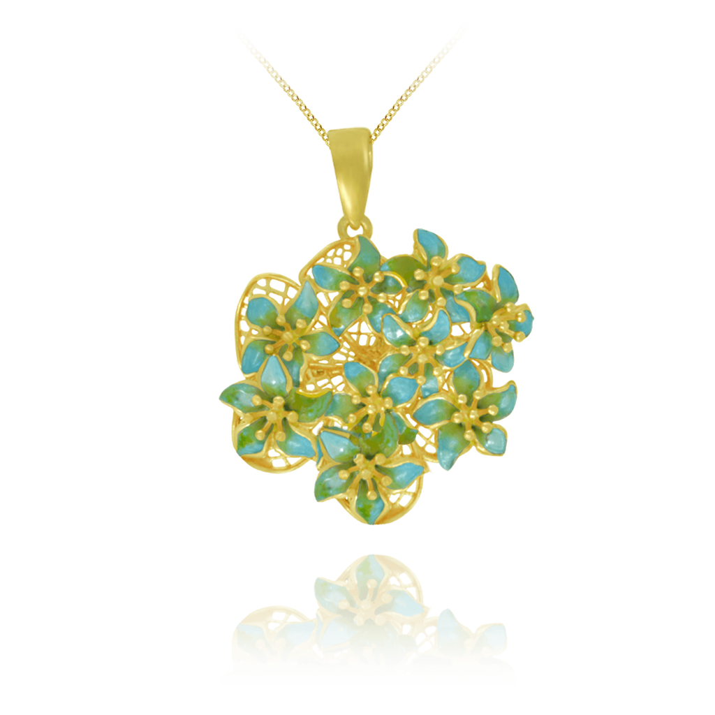 Golden Bouquet Pendant