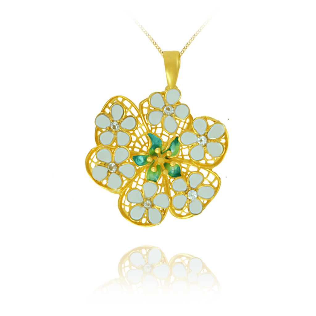 Filigree Flower Pendant