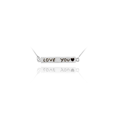 """Love You"" Banner Pendant"