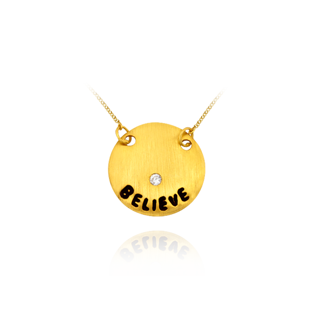 BELIEVE Circle Pendant