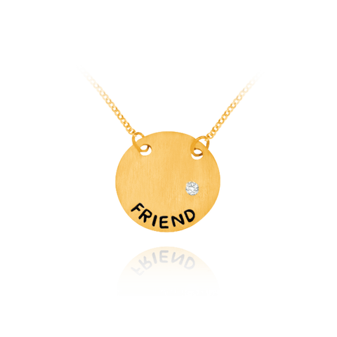 FRIEND Circle Pendant