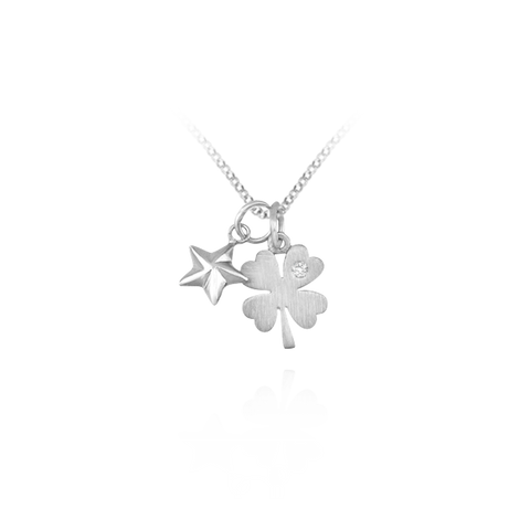 Pendant with Four Leaf Clover Charm
